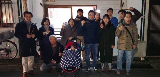 創立記念イベント(箸作り)